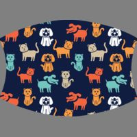 Dog and Cat Navy orange aqua Thumbnail